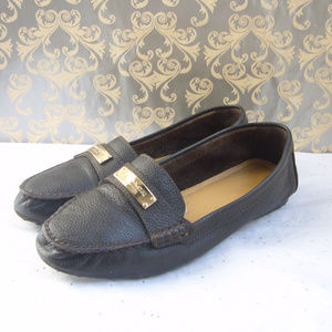 Coach Brown Pebbled Leather Loafer -